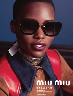 b10bd367a12 Lupita Nyong o Gets Shady for Miu Miu s Latest Eyewear Campaign
