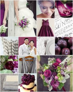 prune and grey Wedding Inspiration, Wedding Ideas, Wedding Stuff, Red And Pink, Wedding Bells, One Shoulder Wedding Dress, Dream Wedding, Wedding Decorations, Wedding Dresses