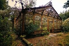 "steampunksteampunk:  ""Abandoned Victorian Greenhouse  """