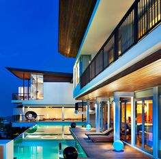 The Best Koh Samui House in Thailand: The Pool With Blue Lights Of Luxury W Retreat Koh Samui