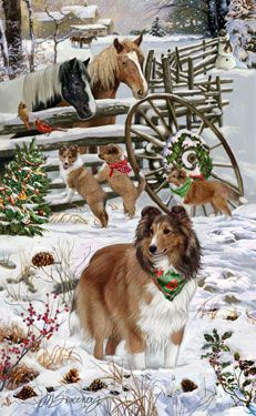--Shetland Sheepdog - Welcoming Committee