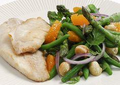 Bean, Mandarin and Macadamia Salad
