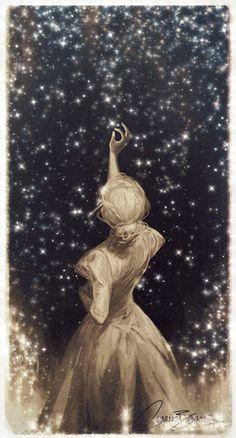 Wonderful illustration of charlie bowater Art Anime Fille, Anime Art Girl, Cute Wallpapers, Wallpaper Backgrounds, Art Sketches, Art Drawings, Art Du Croquis, Art Et Illustration, Moon Art