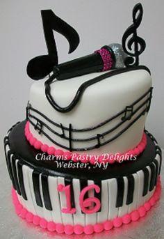Sweet Sixteen Music cake surprise Pinterest Music cakes Cake