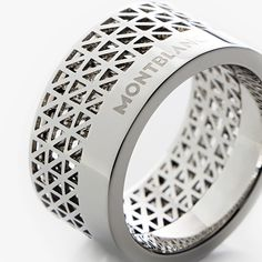 Montblanc Contemporary Collection Ring - would look better without their logo on it :s Men Accesories, Fashion Accessories, Square Diamond Rings, Jewelry Rings, Jewellery, Unique Rings, Ring Designs, Band Rings, Metal
