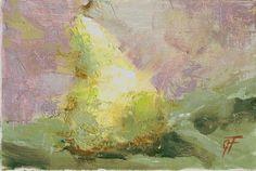 """A Pear 5x7"" by Garland Fulghum"