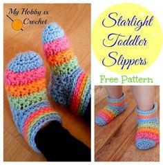 Free Starlight Toddler Slippers Crochet Pattern