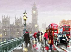 Richard Macneil of a rainy day in London