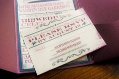 Wedding Invitations Vintage Playbill Typography by TWPWeddings, $1.00