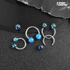 - Ball Size: 1//8 16 GA 1.2mm 3mm Gold Plated Double Glass-Gem Ball Curved Barbell Eyebrow Ring - Sold as a Pair