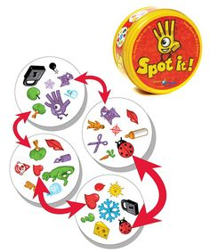 Spot It Game ~ GREAT little game, we've really been enjoying it. Quick, easy, portable, good for ALL ages. Several different ways to play too!