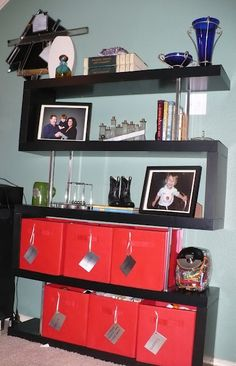 ikea hacked bookcase that looks so easy, I could do it!