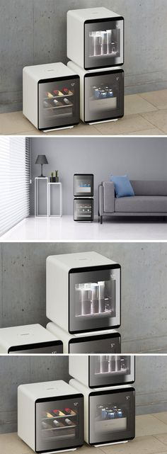 Samsung's Cube fridge is stackable, and allows you to add carious units together to create the fridge of your choice. With its minimal styling, the Cube can be placed anywhere, from your kitchen countertop, to even right beside your couch in the living room, or even in your workshop, where you'd possibly like to keep a couple of brewski's to sip on when you're working on your DIY projects. READ MORE NOW!