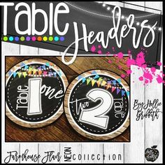 """FREE - Farmhouse Classroom Table Headers - My newest farmhouse decor is rich with charm! It is full of galvanized metal, shiplap, wood grains, chalkboards, string lights, lanterns, and a little NEON to liven it up! It is sure to give you the PERFECT """"home away from home"""""""