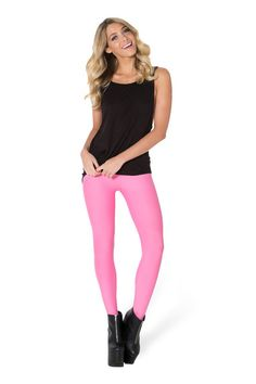 Matte Pink Stirrup Leggings - LIMITED › Black Milk Clothing - XXSMALL x 2