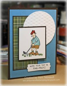 ... Hope your day is Par-fect... Golf card for DAD by airbornewife - Cards and Paper Crafts at Splitcoaststampers