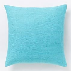 Silk Hand-Loomed Pillow Cover - Bright Turquoise #westelm