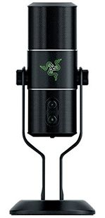 Razer Seiren Pro Elite Studio-Grade Multi-Pattern USB Digital Microphone and Headphone Amplifier Usb Microphone, Hardware, Digital, Game, Studio, News, Black, Hipster Stuff, Computer Hardware