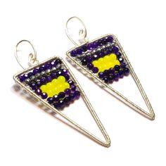 silver and agate/jade earrings