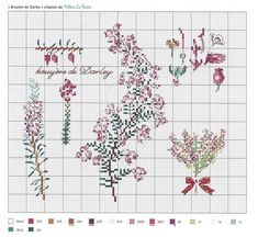 Gallery.ru / Фото #1 - Agenda Point de Croix 2019 Jardins Fleuris - Chispitas Cross Stitch Rose, Cross Stitch Flowers, Cross Stitch Patterns, Cross Stitch Collection, Vintage Cross Stitches, Le Point, Needlepoint, Colorful Backgrounds, Needlework