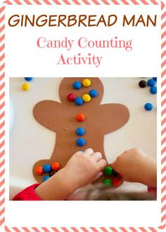 Gingerbread Man Christmas Candy Activity for Kids