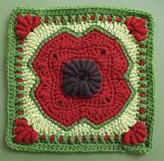 Love this #poppy #crochet granny square~!