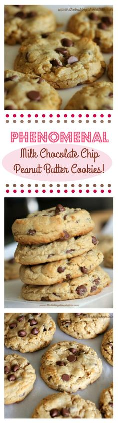 """Phenomenal"" Milk Chocolate Chip Peanut Butter Cookies (Soft n' Thick)"
