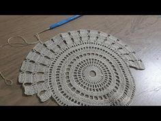 Tığ işi Örgü Sehpa Örtüsü Part 2 & Dantel Modelleri & Crochet - YouTube Diy Crochet Tablecloth, Crochet Table Mat, Crochet Table Runner Pattern, Crochet Quilt, Crochet Doilies, Crochet Lace, Doily Patterns, Crochet Patterns, Diy Clothes Tutorial