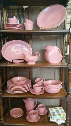 Pink vintage pottery/dinnerware
