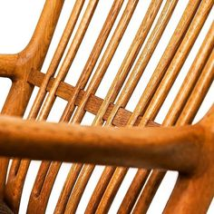 mid-century-furniture: Rocking chair model ML-33 designed by Hans Wegner Produced by Mikael Laursen in Denmark 1942 #midcentury #midcenturymodern #rocking #rockingchair #vintage #atomic #hanswegner #ml33 #joinery