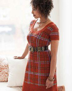 Burnt Plaid Dress, a #crochet pattern in Robyn Chachula's Blueprint Crochet Sweaters
