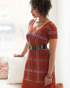 Ravelry: Burnt Plaid Dress pattern by Robyn Chachula