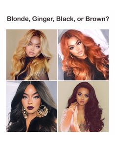 Blonde, Ginger, Black, or Brown? What's your favorite hair color? ♀️ Which color would you try?
