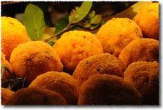 Sicilian Arancini Stuffed with Ham Recipe - Arancini al Prosciutto : Arancini di Riso, Sicily's Golden Orbs