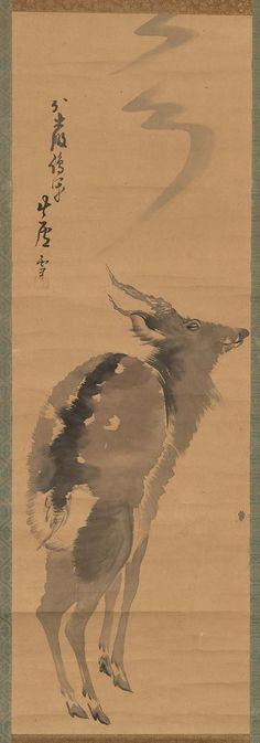 Deer  鹿図 Japanese Edo period Late 18th century Nagasawa Rosetsu (Japanese, 1754–1799)