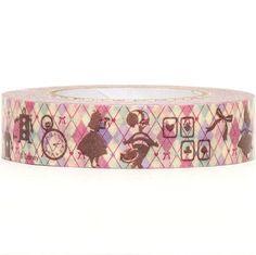 Alice in Wonderland Paper Tape rhombus fairy tale 1
