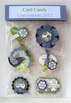 Betsy's Blossoms - I love the idea of having these items made and ready to go on a card.  Would also be a great gift for a cardie friend.