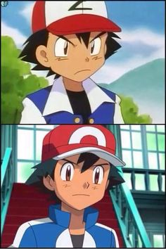 Ash Ketchum -> His anger face has changed from funny to not