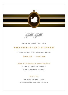 Gobble Gobble Invitation from Fresh Press