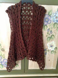 Crochet Patterns Vest Ravelry: Project Gallery for Mesh Vest pattern by Doris Chan Gilet Crochet, Crochet Vest Pattern, Crochet Coat, Crochet Jacket, Crochet Cardigan, Crochet Scarves, Crochet Clothes, Crochet Patterns, Crochet Vests