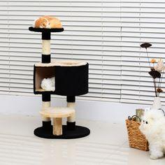 ¿Estás cansado que tu gato lo arañe todo? Compra un árbol Rascador para que satisfaga sus necesidades sin dañarse. Con nuestro rascador tu gato podrá jugar, dormir,  relajarse, hacer ejericio...  Es de franela de 400g/m2 de alta calidad y muy suave y cómodo. Le encantará. Medidas 50x40x98cm (LxAnxAl).  Puedes comprarlo online en https://www.aosom.es/mascotas/pawhut-rascador-gato-crema-felpa-50x40x98cm.html con envíos gratis a España y Portugal en 24h/48h.