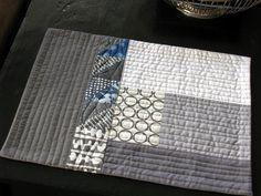 originally a mug rug but would make a great quilt back pattern