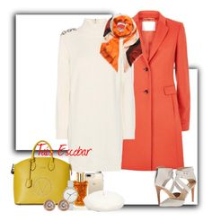"""""""Orange day...."""" by tais-escobar ❤ liked on Polyvore featuring BOSS Hugo Boss, Burberry, Joe's Jeans, Mario Valentino, Speck, Lancôme, Skagen, Ron Hami, New Directions and Mulberry"""