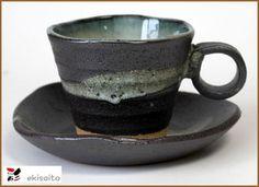 Black saiun sinks to the coffee Bowl dish soil texture relief!