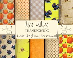 Thanksgiving Digital Paper Scrapbook