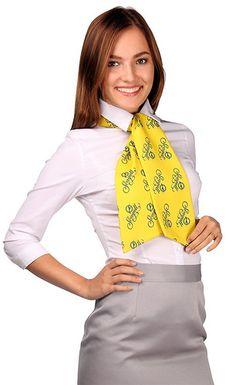 New Work Uniform With Big Yellow Scarf | Karla | Flickr