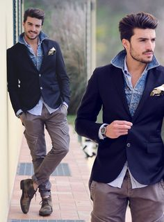 Suave, jean jacket suit jacket pairing, camo shoes
