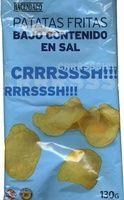 """Patatas fritas lisas """"Hacendado"""" Bajo contenido en sal - Producto"""