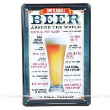 [ ] Beer Around the World Tin Signs Vintage House Cafe Restaurant Beer Poster Metal Craft ART Painting CM