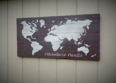 ADVENTURE WAITS WORLD MAP  If you would like a custom order please see our Shop Policies for customization policy and fees. If you decide you